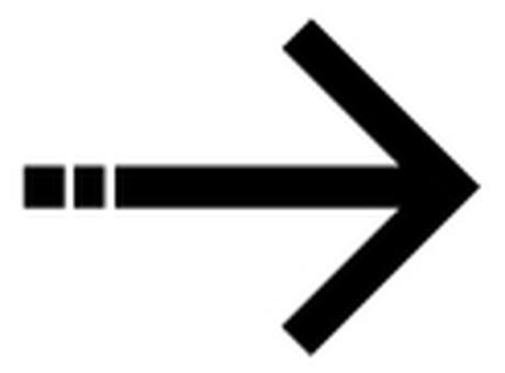 Single line arrow _ Black