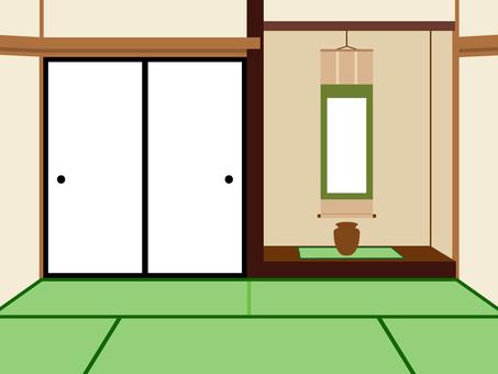 簡単な家 和室  床の間 背景
