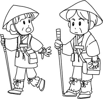 Pilgrimage (line drawing)