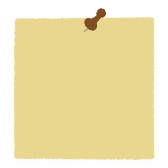 Push pin and memo paper _ brown