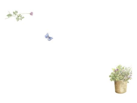 花とハーブの封筒