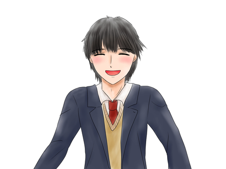 笑顔の男子