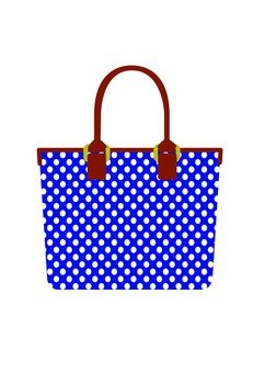Polka dot bag (blue)