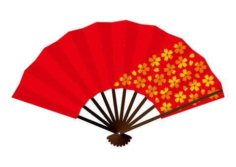 Red cherry-shaped fan