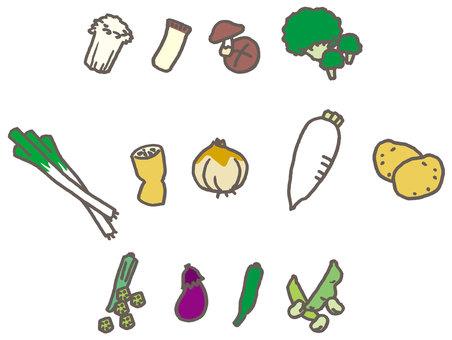 各种蔬菜01