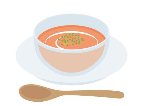 Soup cold tomato