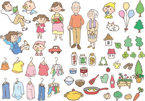 Familia de tercera generación y bienes diversos