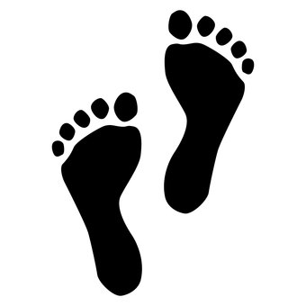 Footprint silhouette (powerful man)