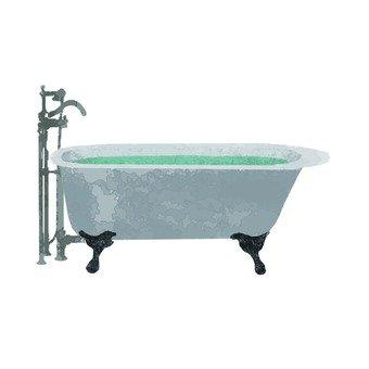 Hand-drawn style bath