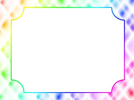 Colorful grating frame diagonal