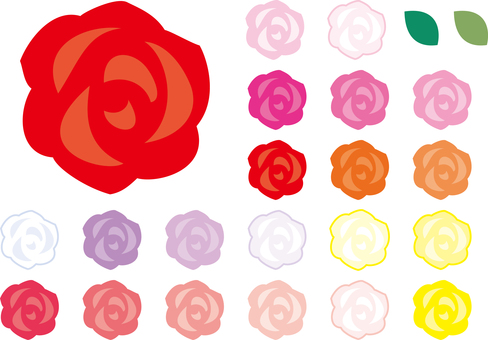 A set of simple roses