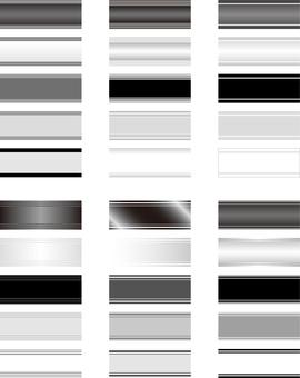 Horizontal title frame monochrome series 1