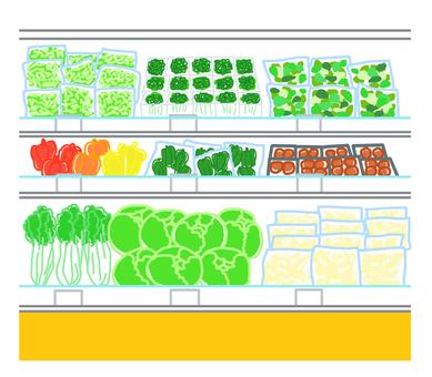 Vegetable display shelf