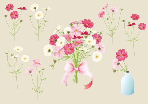 秋天櫻花花束花瓶分支集合