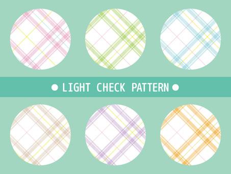 Bright mixed tartan check material 2