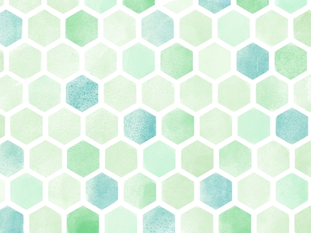 Wallpaper * Watercolor style Hexagon pattern