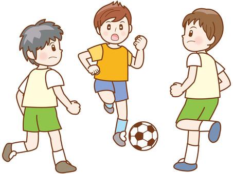 축구 소년 라인 C
