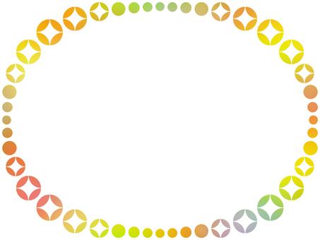 Oval frame simple decoration frame material illustration