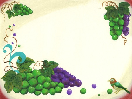 Grapes and a bird