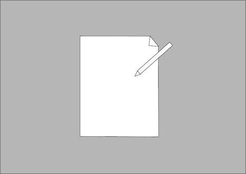 紙和鉛筆圖標