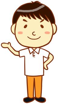 "Polo shirt man (information) ""white"""