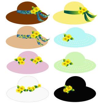 Various summer hats