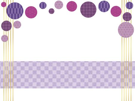 Japanese style polka dots