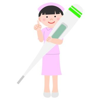 Nurse and thermometer