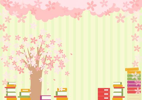 Sakura book new semester