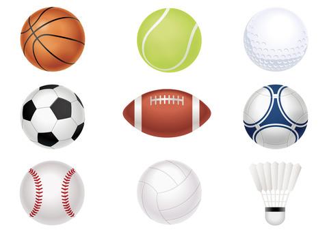 スポーツボールのイラストセット