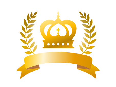 Crown gold title material glitter frame