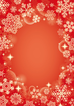 Christmas snow background red