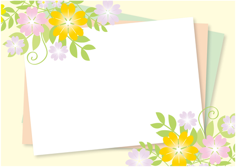 Spring flower frame (background cream)
