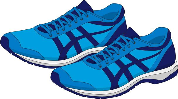 Jogging shoes blue