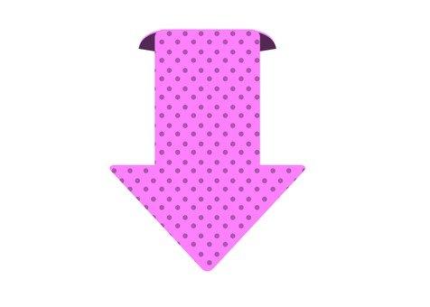 Down arrow (pink)