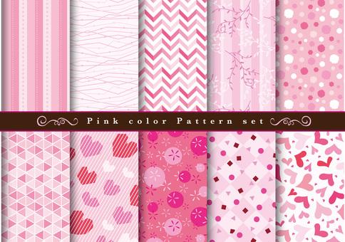 Pink pattern set
