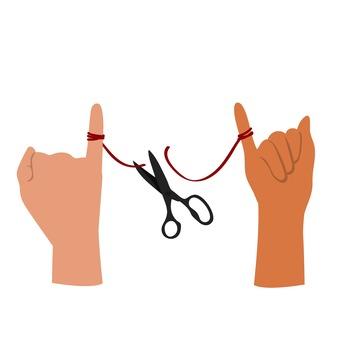 Cut a red thread