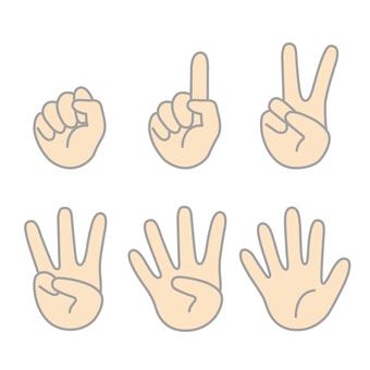 인물의 다섯 손가락 2