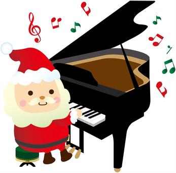 피아노 연주의 산타 클로스