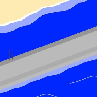 コンクリート防潮堤
