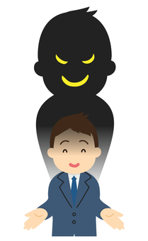 Illustration of fraudster [sales and salaryman]