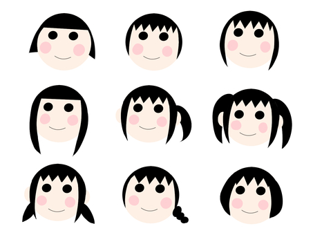 【Set】 Girl's face