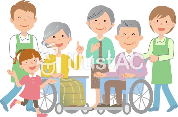 70912.車椅子,介護士1のイラスト