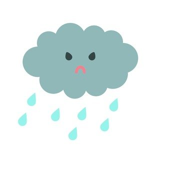 Angry face rain cloud