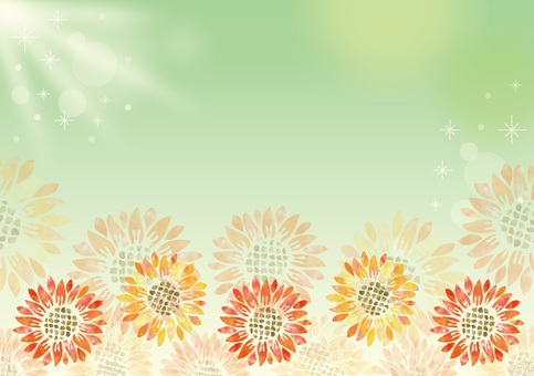 Watercolors sunflower background