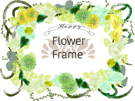 Green flower frame
