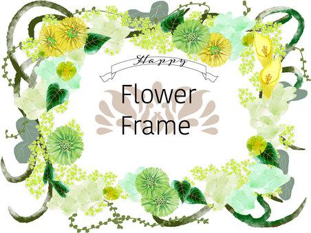 綠色花框架
