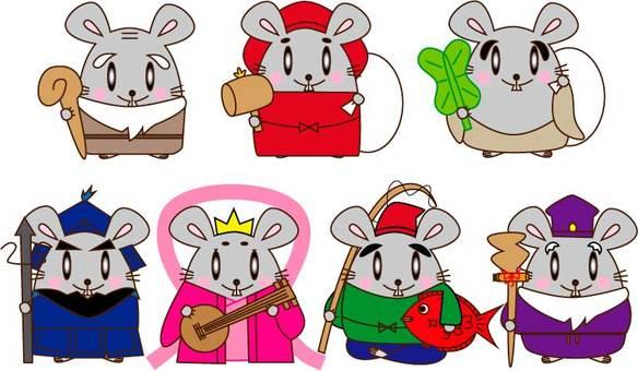 ネズミ・七福神