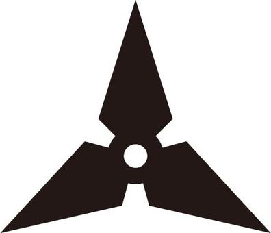 Triangular shuriken