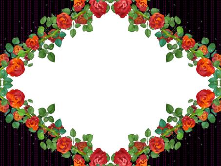 薔薇フレーム 赤